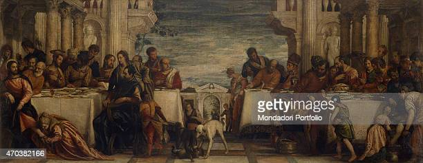 'Supper in the House of Simon by Paolo Caliari known as Veronese 16th century oil on canvas 275 x 710 cm Italy Lombardy Milan Brera Collection Whole...