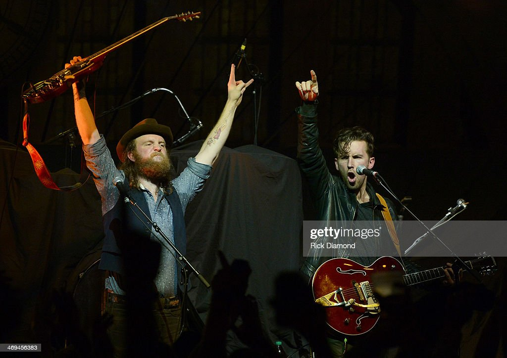 John Osborne and TJ Osborne help Celebrate the release of Eric Church's new album 'The Outsiders' with The Outsiders Live Tour at the Buckhead Theatre on February 14, 2014 in Atlanta, Georgia.