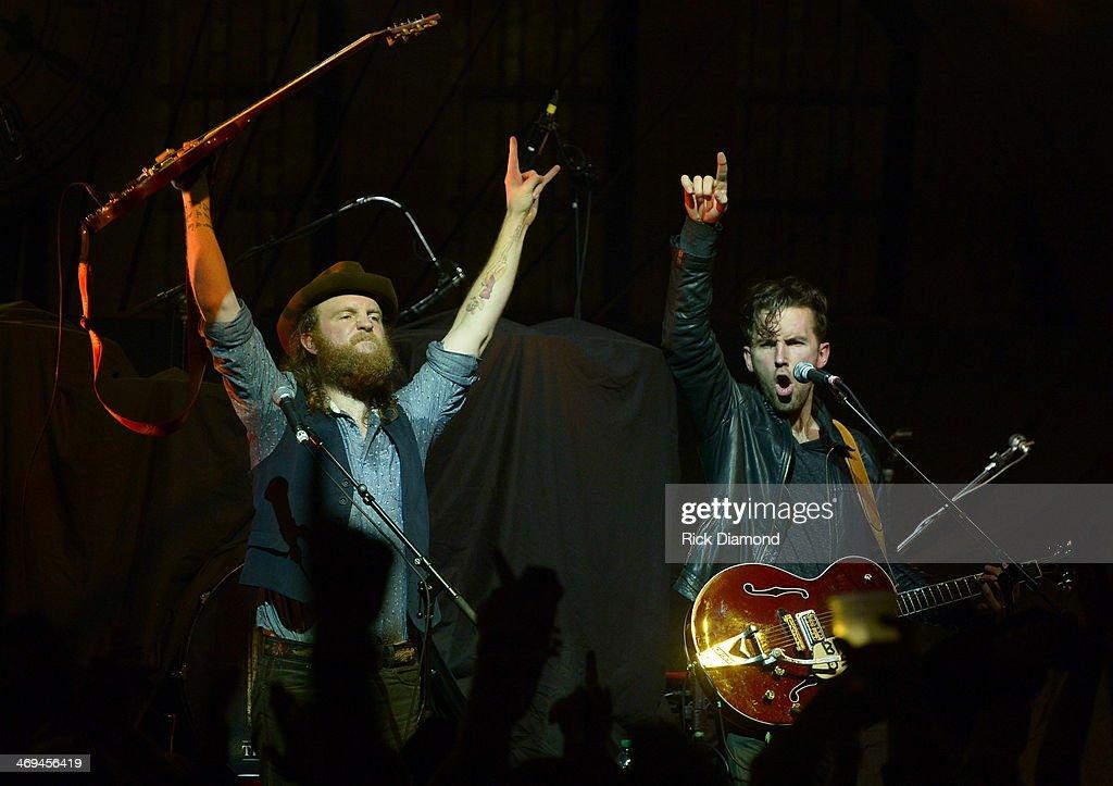 John Osborne and TJ Osborne help Celebrate the release of Eric Church's new album 'The Outsiders' with The Outsiders Live Tour at the Buckhead Theatre on February 14, 2014 in Atlanta, Georgia.