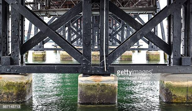 Support Columns And Girders Of Bridge