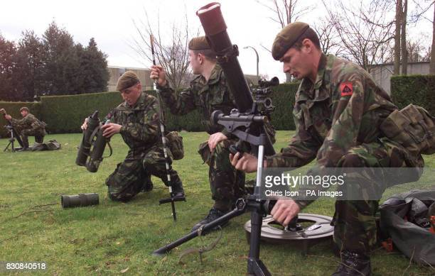Support Company Mortar Platoon of the 1st Battalion Welsh Guards in training at Aldershot The Welsh Guards are moving to St Athan near Barry in the...
