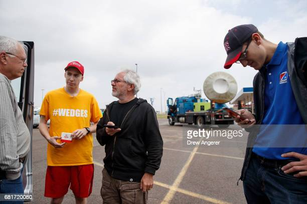 Support scientist Tim Marshall a 40 year veteran of storm chasing Hunter Anderson meteorology student from St Cloud State University meteorologist...