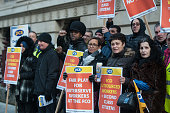 GBR: Foreign Office Support Staff Protest During A Strike
