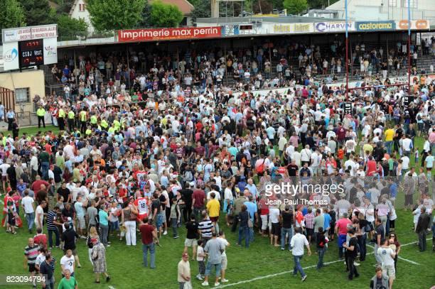 Supporter Bourgoin / Fin du match Bourgoin / Biarritz 36e journee Top 14