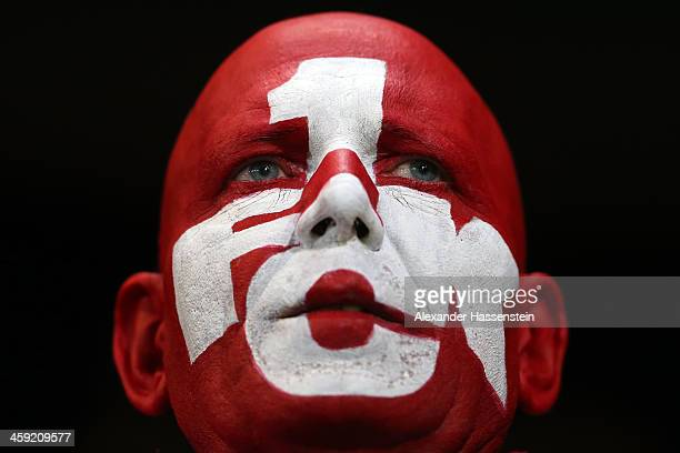 A supporter of Kaiserslautern looks on during the Second Bundesliga match between FC Ingolstadt and 1FC Kaiserslautern at Audi Sportpark on December...