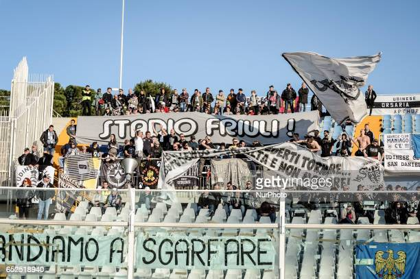 Supporter of Udinese during the Italian Serie A football match Pescara vs Udinese on March 15 in Pescara Italy