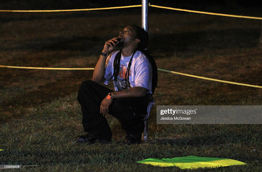 A supporter quietly awaits the execution of Troy Davis at Jackson State Prison on September 21, 2011 in Jackson, Georgia. Davis' time of death is 11:08PM on Wednesday, September 21, 2011 for the 1989 slaying of off-duty Savannah, Ga., police officer Mark MacPhail. Controversy over Davis' guilt has drawn national attention to the case.