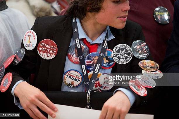 Supporter waits to greet Republican presidential candidate Donald Trump after he spoke at a rally February 19 2016 in Myrtle Beach South Carolina...