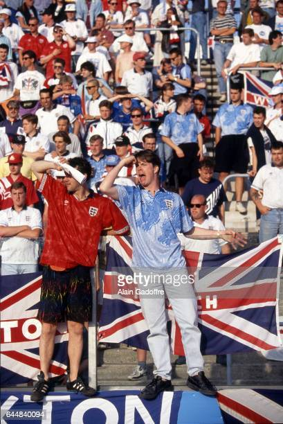 Supporters Angleterre Danemark / Angleterre Euro 1992 Photo Alain Gadoffre / Icon Sport