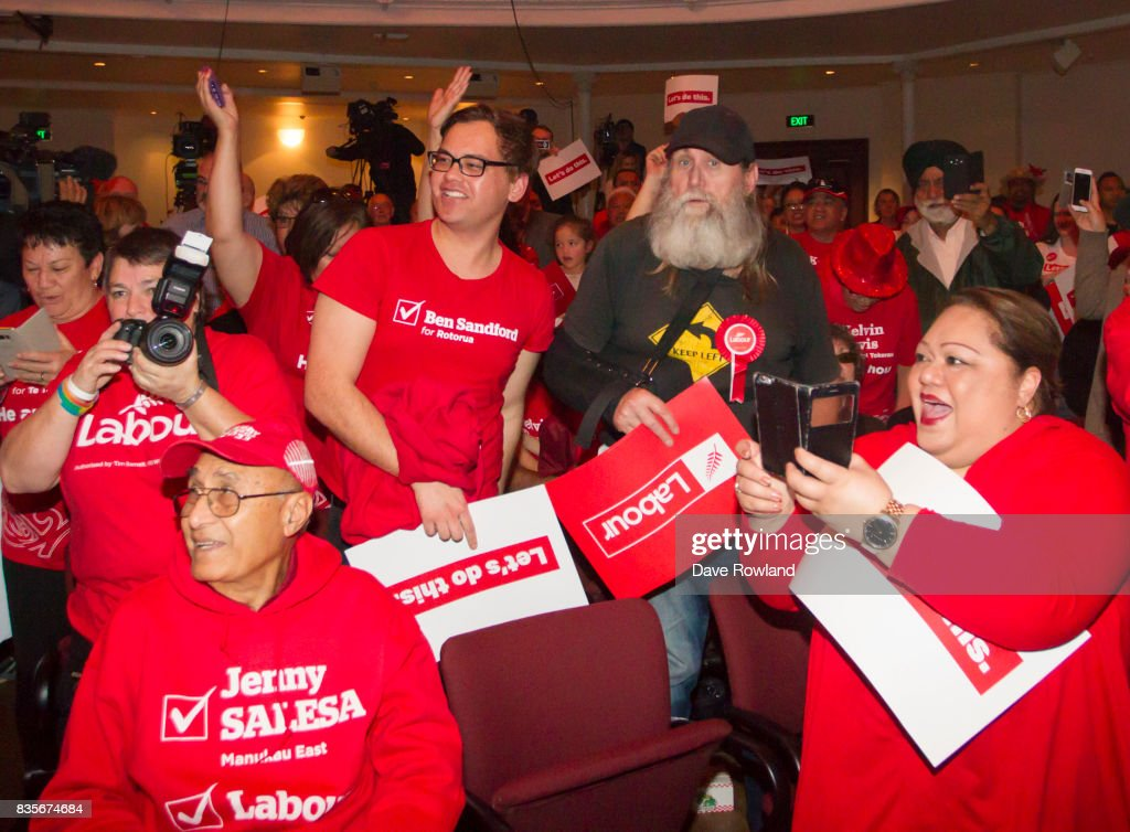 Supporters at the Labour Party Campaign Launch on August 20, 2017 in Auckland, New Zealand. The New Zealand general election will be held on September 23, 2017.