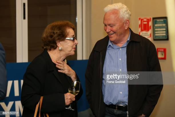 ACT supporters Dame Jenny Gibbs and former ACT leader Richard Prebble wait for leader David Seymour to arrive at the Royal New Zealand Yacht Squadron...
