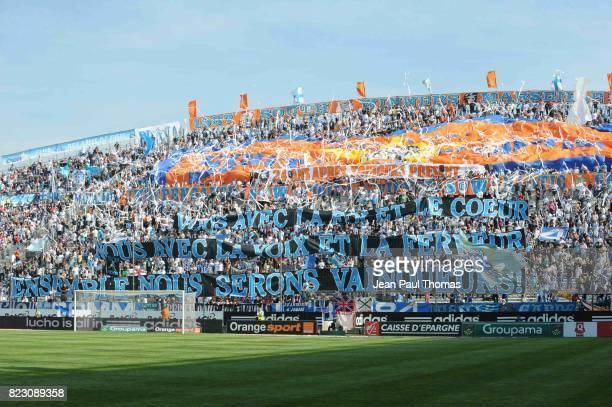 Supporters de Marseille / Banderole Marseille / Auxerre 33e journee de Ligue 1