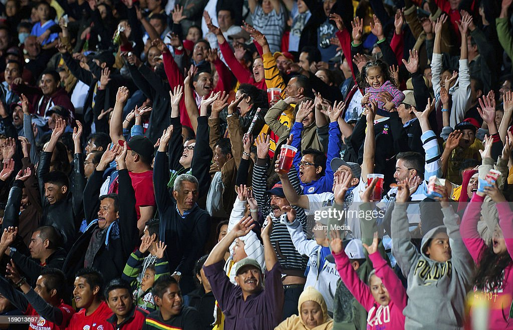 Supporters during a match between Morelia and Cruz Azul as part of the Clausura 2013 Liga MX at Morelos Stadium on january 04, 2013 in Morelia, Mexico.