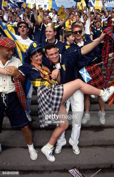 Supporters Ecosse Pays Bas / Ecosse Euro 1992 Photo Alain Gadoffre / Icon Sport