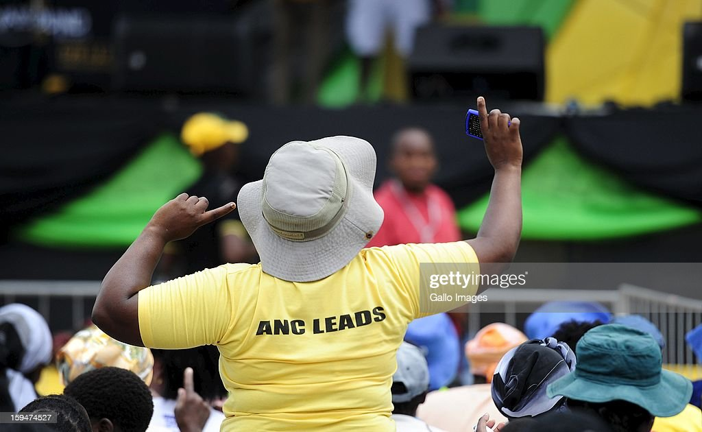 ANC supporters gather at the ANC rally on January 10, 2013, in Pietermaritzburg, South Africa. The ANC rally marked the party's 101 year of existence.