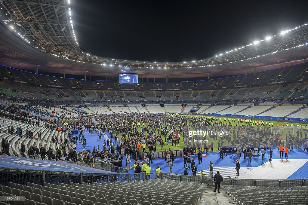 supporters in the Stade de France during the International friendly match between France and Germany on November 13, 2015 at the Stade France in Paris, France.