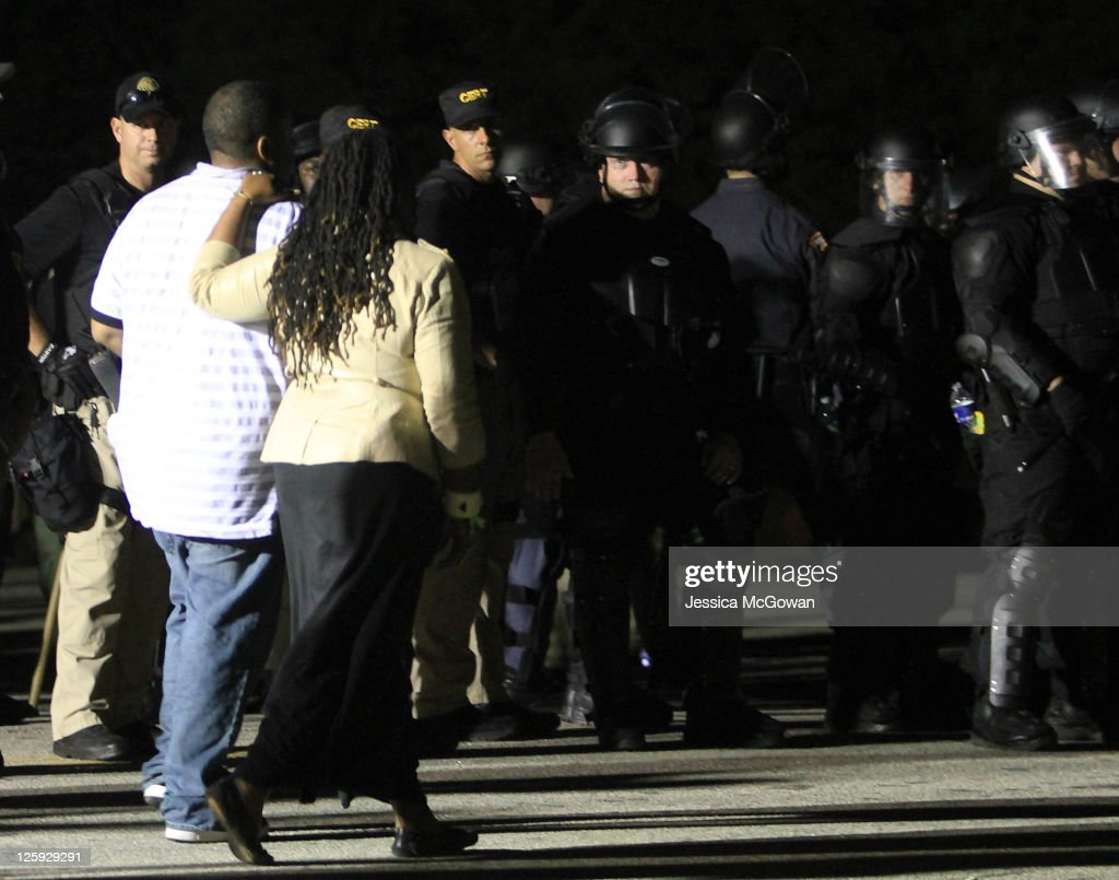 Supporters leave the grounds of the prison after the completion of the execution of Troy Davis at Jackson State Prison on September 21, 2011 in Jackson, Georgia. Davis was executed on 11:08 pm ET Wednesday, September 21, 2011 for the 1989 slaying of off-duty Savannah, Ga., police officer Mark MacPhail. Controversy over Davis' guilt has drawn national attention to the case.