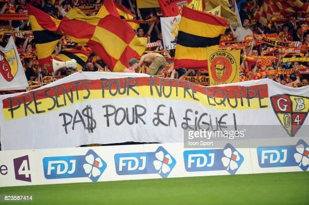 Supporters Lens / Banderole Lens / Evian Thonon 16e finale Coupe de la Ligue