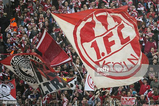 supporters of 1FC Koln during the Bundesliga match between 1FC Köln and TSG 1899 Hoffenheim on October 31 2015 at RheinEnergieStadion in Keulen...