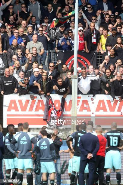 supporters of Ajaxduring the Dutch Eredivisie match between Willem II Tilburg and Ajax Amsterdam at Koning Willem II stadium on May 14 2017 in...