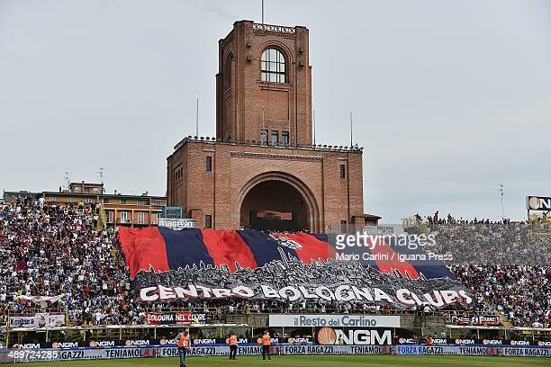 supporters of Bologna FC attend the Serie A match between Bologna FC and Calcio Catania at Stadio Renato Dall'Ara on May 11 2014 in Bologna Italy