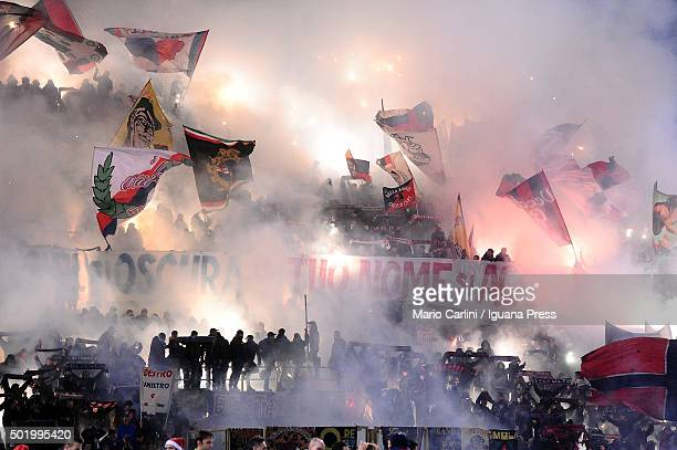 supporters of Bologna FC attend the Serie A match between Bologna FC and Empoli FC at Stadio Renato Dall'Ara on December 19 2015 in Bologna Italy
