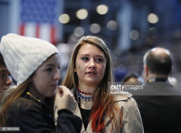 Supporters of Democratic presidential candidate Hillary Clinton are left disappointed in New York on Nov 9 after she loses to Republican Donald Trump