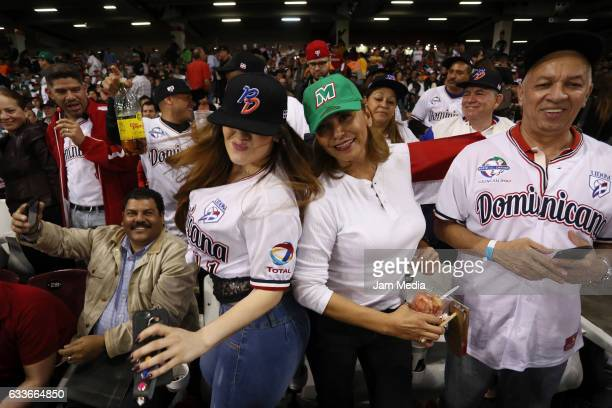 Supporters of Dominican Republic cheer for their team during a game between Aguilas del Mexicali of Mexico and Tigres de Licey of Dominican Republic...