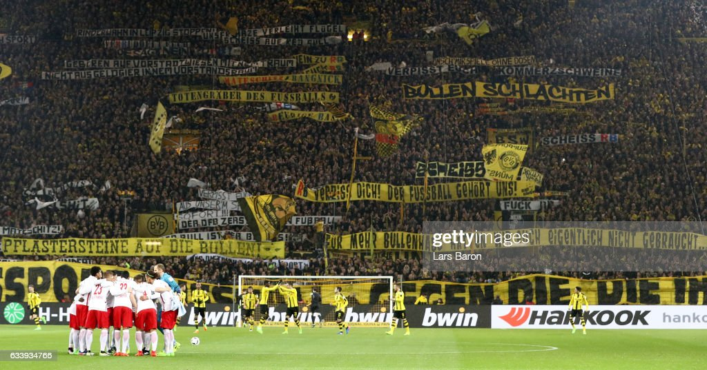 Display Banners Prior To The Bundesliga Match Between Borussia Dortmund And Rb Leipzig With Signal Iduna Park Mbel