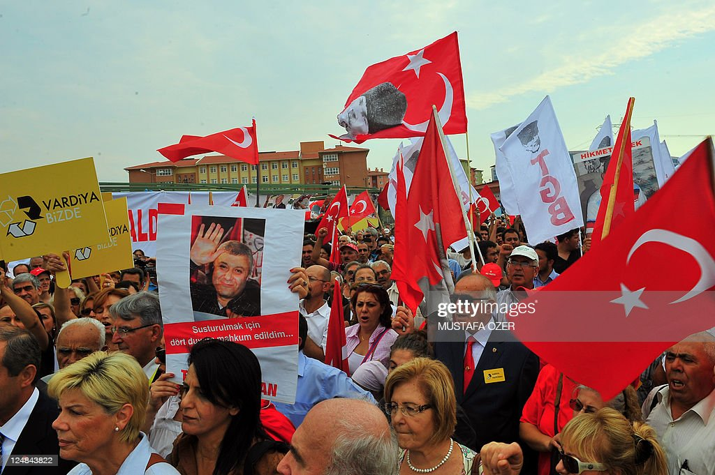 Supporters of Ergenekon a nationalistsecularist network suspected by the current Turkish government of having a broad plan to plunge Turkey into...