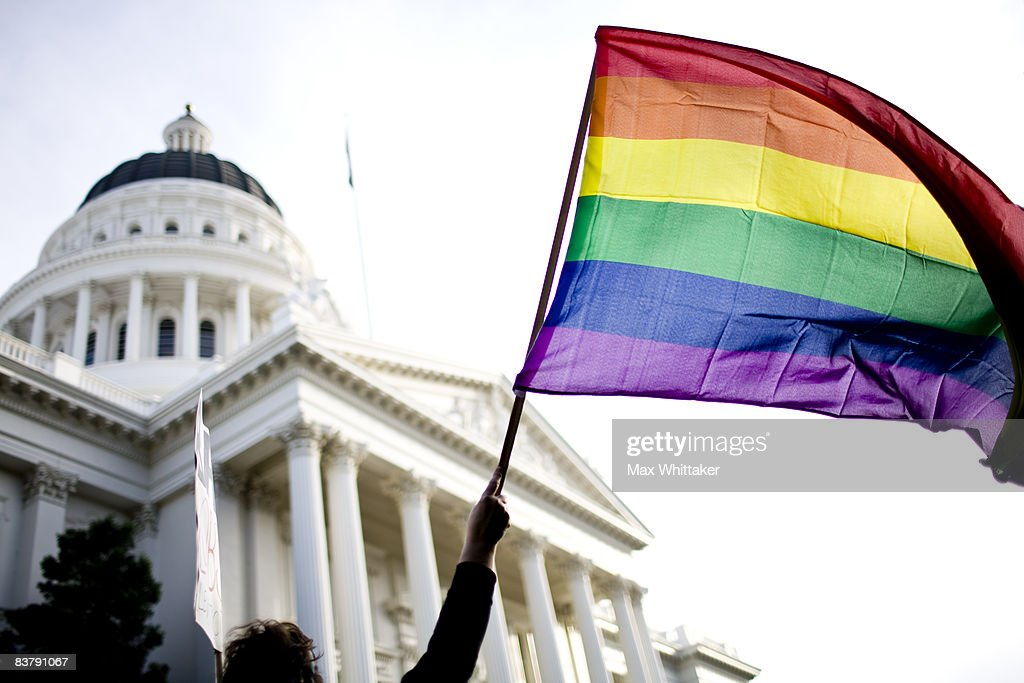 Supporters of gay marriage rally on the steps of the State Capitol November 22 2008 in Sacramento California People across the country continue to...