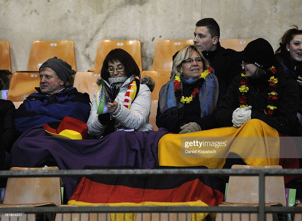 Supporters of Germany look on prior the international friendly match between France and Germany at Stade de la Meinau on February 13, 2013 in Strasbourg, France.