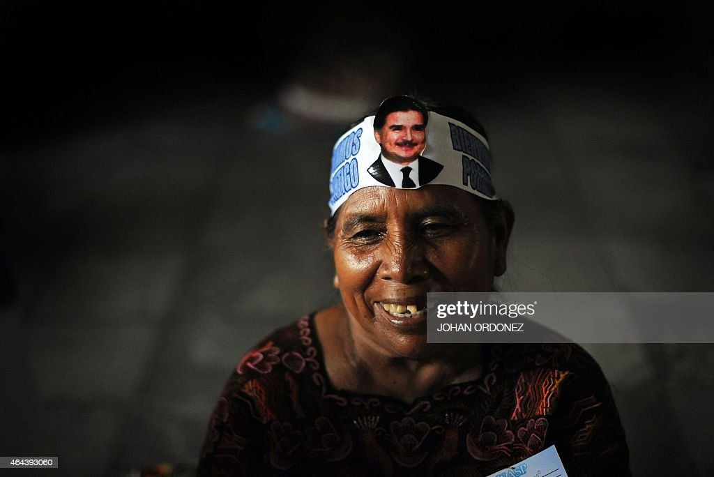 Supporters of Guatemalan former President (2000-2004) <a gi-track='captionPersonalityLinkClicked' href=/galleries/search?phrase=Alfonso+Portillo&family=editorial&specificpeople=235376 ng-click='$event.stopPropagation()'>Alfonso Portillo</a> wait for the return of their leader at La Aurora international airport, in Guatemala City on February 25, 2015. Portillo had been sentenced in New York to five years and 10 months in prison for a $2.5 million bribery scandal --he pleaded guilty to trying to launder bribes Taiwan paid to Guatemala through US banks to get the Central American nation to offer diplomatic recognition to Taipei over Beijing. AFP PHOTO / JOHAN ORDONEZ