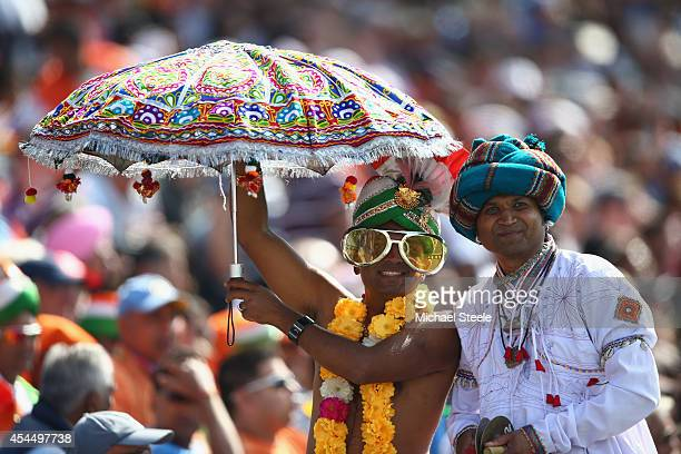 Supporters of India during the fourth Royal London OneDay Series match between England and India at Edgbaston on September 2 2014 in Birmingham...
