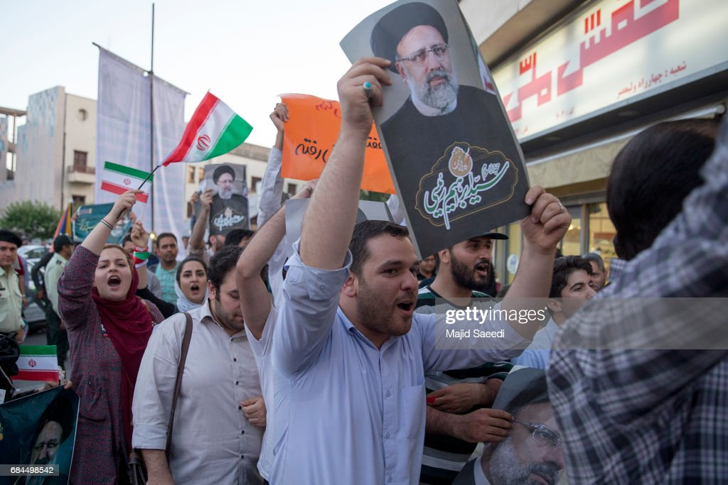 Supporters of Iranian presidential candidate cleric Ebrahim Raisi campaign ahead of the May 19 election, on May 17, 2017 in Tehran, Iran. Raisi is believed to be the favorite of Supreme Leader Ayatollah Ali Khamenei, who will remain Iran's top decision-maker, but it's unclear whether Raisi will be able to unseat moderate President Hassan Rouhani.