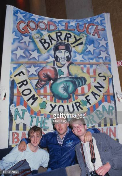 Supporters of Irish boxer Barry McGuigan at his title fight against WBA world featherweight champion Eusebio Pedroza of Panama at Loftus Road...