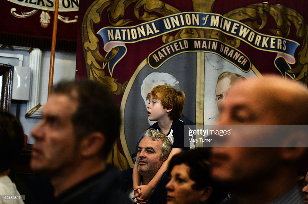Supporters of Jeremy Corbyn MP, listen to him speak at a rally at the National Union of Miners' headquarters, as he campaigns to retain his leadership of the Labour Party on September 10, 2016 in Barnsley, England. Mr Corbyn is being challenged for his leadership by Owen Smith MP after losing a vote of no confidence among his party's membership. The result of the contest will be announced on September 24th 2016.