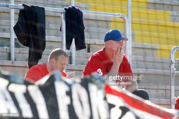 Supporters of Kalmar FF is dejected during the Allsvenskan match between Ostersunds FK and Kalmar FF at Jamtkraft Arena on May 20 2017 in Ostersund...