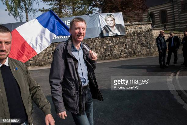 Supporters of Marine Le Pen National Front Party Leader and presidential candidate came to attend her meeting during their 'popular festival' in a...