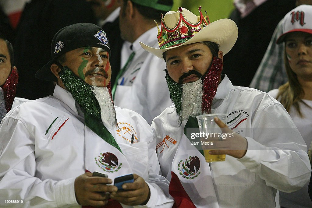 Supporters of Mexico watch a match between Mexico and Puerto Rico for the Caribbean Series 2013 on February 6, 2013 in Hermosillo, Mexico.