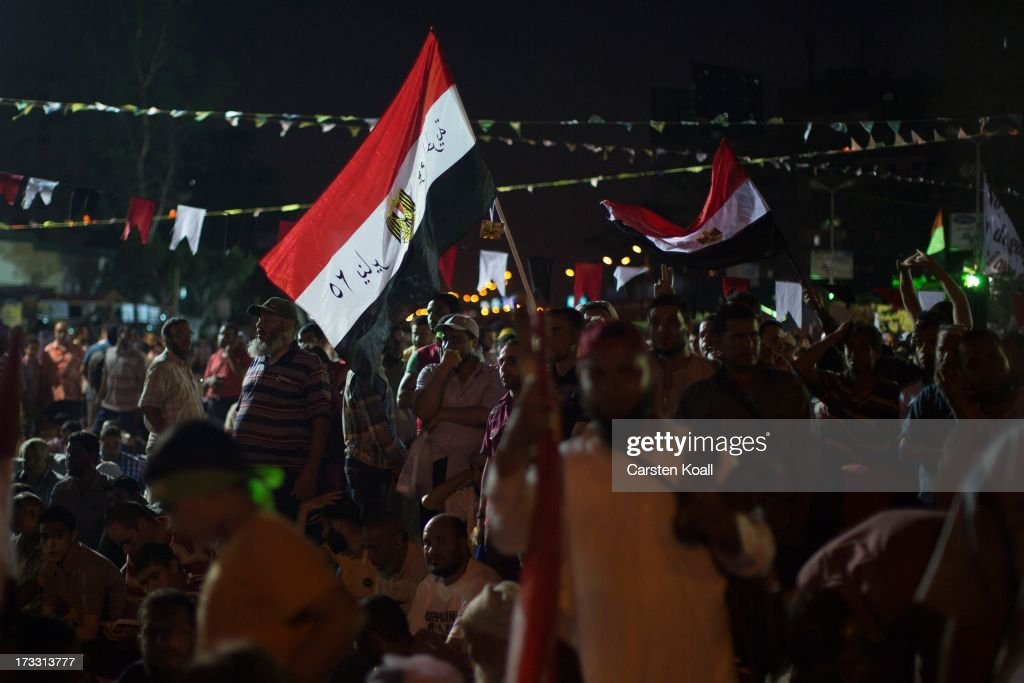 Supporters of ousted president Mohamed Morsi attend a rally during the second day of Ramadan the sacred holy month for Muslims where many will fast...