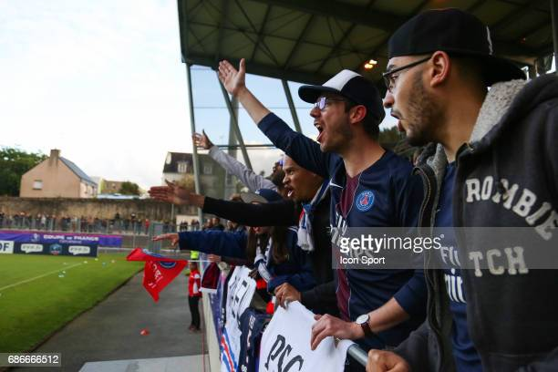 Supporters of Paris during the Final of the Women's French Cup between Olympique Lyonnais and Paris SaintGermain at Stade de la Rabine on May 19 2017...