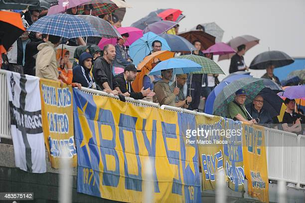 Supporters of Parma Calcio 1913 during the training session on August 10 2015 in Collecchio Italy