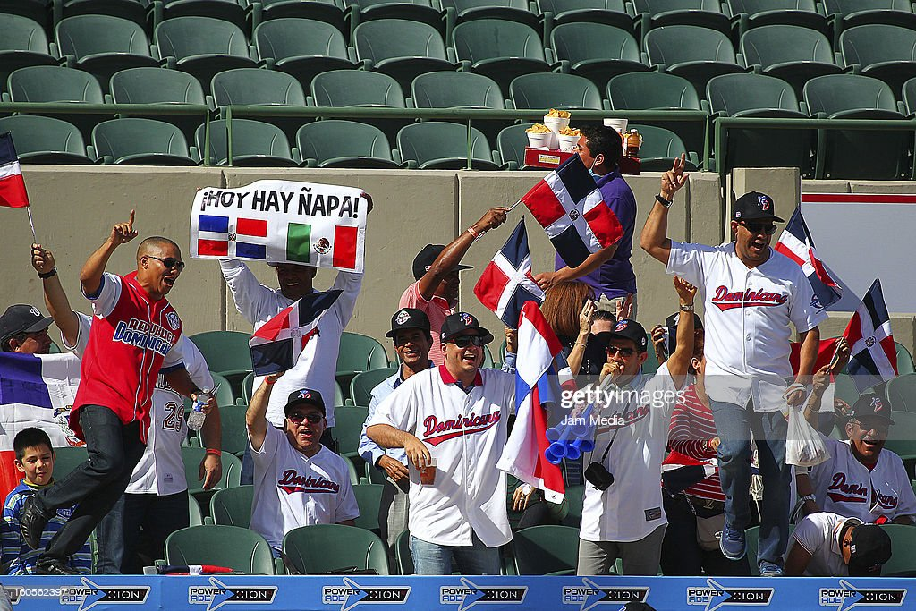 Supporters of Republica Dominicana during the Caribbean Series Baseball 2013 in Sonora Stadium on february 2, 2013 in Hermosillo, Mexico.