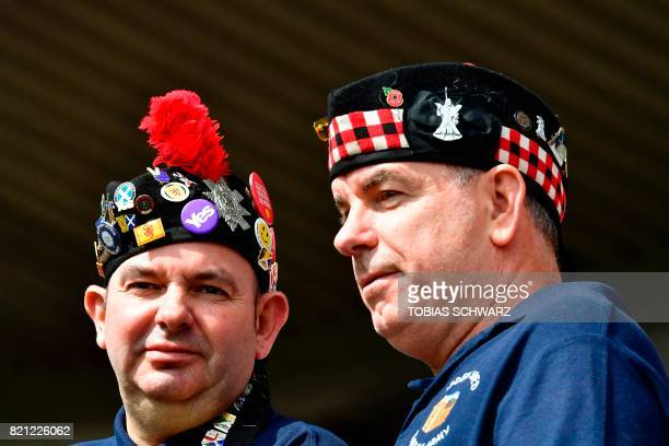 Supporters of Scotland await the start of the UEFA Women's Euro 2017 football tournament between Scotland and Portugal at the Stadium Sparta...