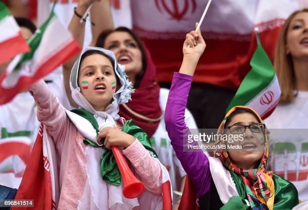 Supporters of team Iran during the FIVB World League 2017 match between Iran and USA at Arena Spodek on June 15 2017 in Katowice Poland