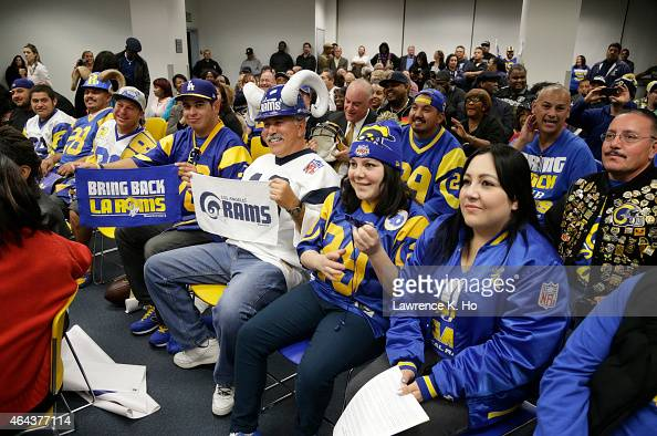 FEB 24 2015 Supporters of the initiative wait for public comments at the meeting in the overflowing room of the Council Chamber at Inglewood City...