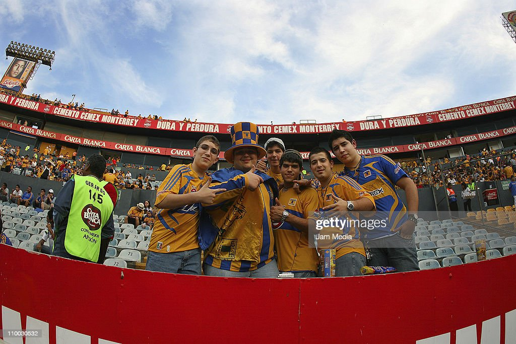 Supporters of Tigres during a match against San Luis as part of the Clausura 2011 Tournament in the Mexican Football League at Universitario Stadium on March 12, 2011 in Monterrey, Mexico.