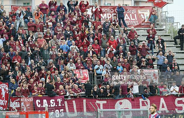 Supporters of Torino during the Serie A match between FC Crotone and FC Torino at Stadio Comunale Ezio Scida on November 20 2016 in Crotone Italy