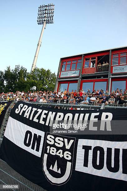 Supporters of Ulm are seen during the Regionalliga match SSV Ulm 1846 v Bayern Alzenau at Donaustadion on August 7 2009 in Ulm Germany
